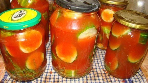Огурцы в томате с фото