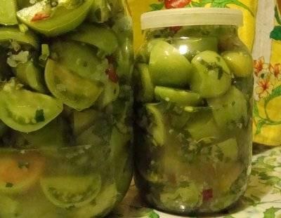 Зеленые маринованные помидоры на зиму очень вкусные