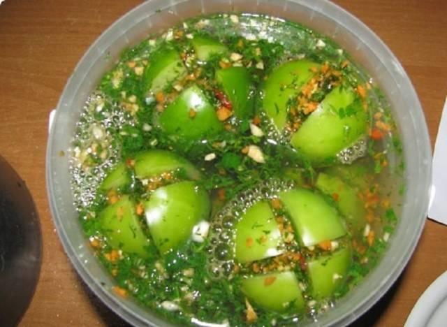 Рассол для зеленых помидор