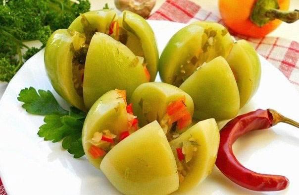 Армянчики из зеленых помидоров - рецепт на зиму