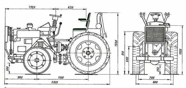 Трактора переломки своими руками чертежи 397
