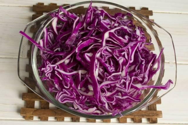 Рецепт капуста краснокочанная маринованная со свеклой