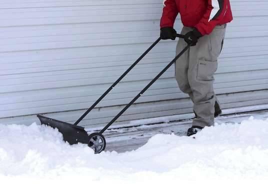 Снеготолкатель на колесах своими руками 78
