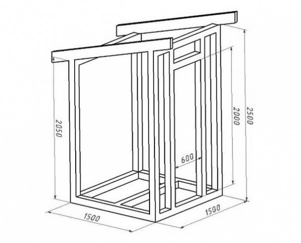 Деревянный туалет для дачи своими руками чертежи фото