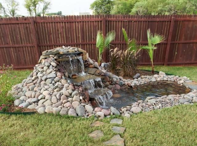 Как сделать водопад в саду пошаговая инструкция