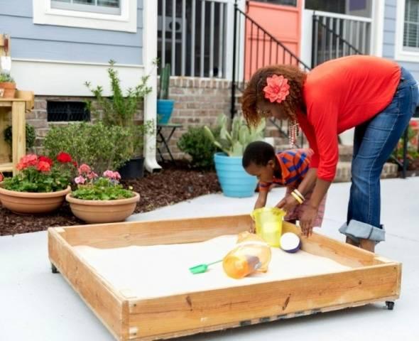 Детская песочница своими руками фото и идеи