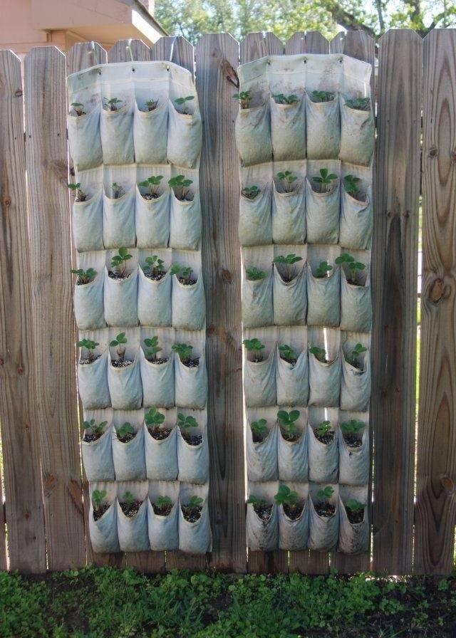 Вертикальные грядки для клубники своими руками фото